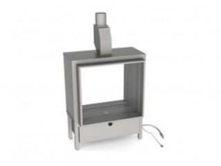 Газовый камин Vero Design Gala квадратная модель. Туннельный вариант 80/80/60