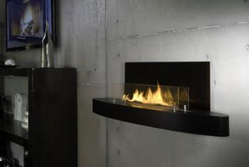 Биокамин Spartherm Elipse Wall Нержавеющая сталь