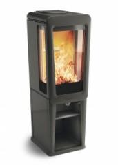 Печь-камин Keddy K 836 T | черный | полностью мыльный камень | автомат заслонка