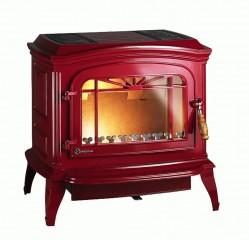 Печь-камин Invicta Bradford Красная эмаль
