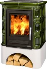 Печь-камин ABX Marina КP | кафельный цоколь | каф.верх. плита