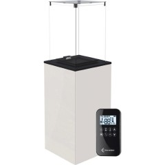 Газовый нагреватель Kratki PATIO MINI/G31/37MBAR/B - белое стекло, с пультом ДУ
