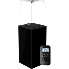 Газовый нагреватель Kratki PATIO MINI/G31/37MBAR/CZ - черное стекло, с пультом ДУ