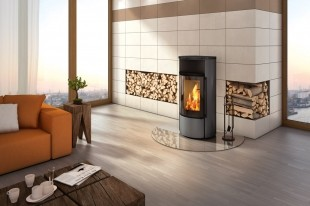 Печь-камин Spartherm Ambiente A1 | перламутр