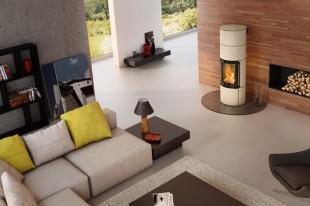 Печь-камин Spartherm Ambiente A4 H2O цвет перламутр