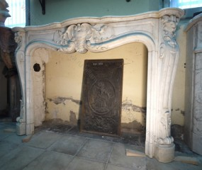 Камин антикварный мраморный (каминный портал) Villa Nuova B043788