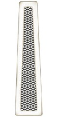 Решетка вентиляционная 1000 мм, без подрамника, треугольная DIXNEUF