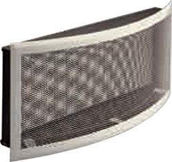 Решетка вентиляционная 33х25, горизонтальная радиусная, подрамник с фильтром DIXNEUF