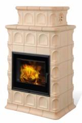 Печь-камин Hein Baracca 3N, 4N, 7N керамика с теплообменником