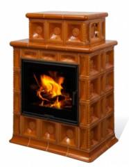 Печь-камин Hein Baracca 3,4,7 керамика с теплообменником
