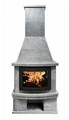 Печь-камин облицовка FS7+дровница+основание