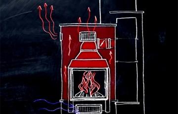 Отопление квартиры и дома камином