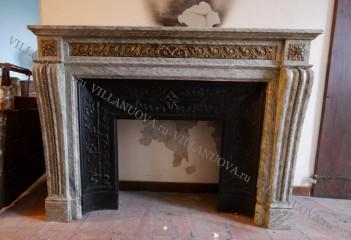 Камин антикварный мраморный (каминный портал) Villa Nuova B046459