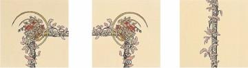 Плитка Stovax Spring с бордюрным и угловым рисунком