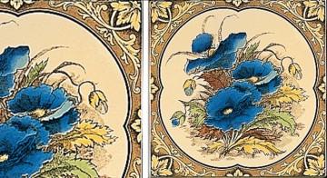 Плитка Stovax Blue Poppies