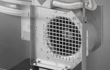 Вентилятор с регулятором мощности для прямоугольных печей Contura