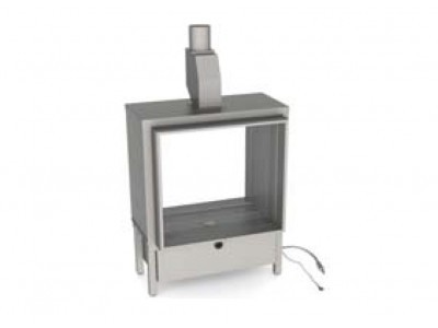 Газовый камин Vero Design Gala квадратная модель. Туннельный вариант 70/70/60
