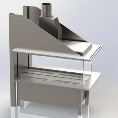 Газовый камин Vero Design Gala трёхсторонняя модель EPI 150/40/60