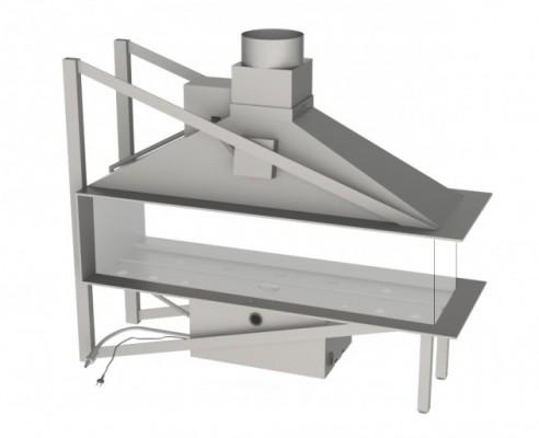 Vero Design Nippon трёхсторонняя модель EPI со стеклом (средняя сторона) 125/40/60