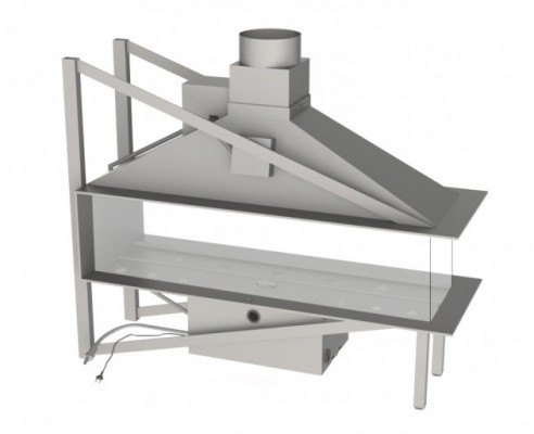 Vero Design Nippon трёхсторонняя модель EPI со стеклом (средняя сторона) 150/40/60