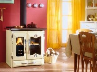 Печь-камин с плитой и духовкой La Nordica-Extraflame Mamy NE