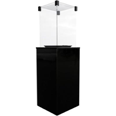 Газовый нагреватель Kratki PATIO/G31/37MBAR/CZ - черное стекло, с пультом ДУ