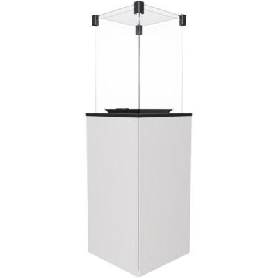 Газовый нагреватель Kratki PATIO/G31/37MBAR/B - белое стекло, с пультом ДУ