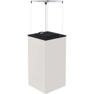 Газовый нагреватель Kratki PATIO MINI/M/G31/37MBAR/B - белое стекло, с ручным управлением