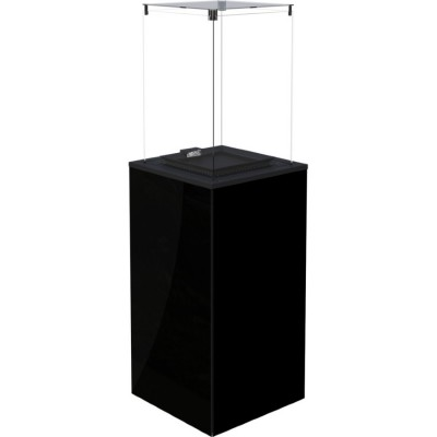 Газовый нагреватель Kratki PATIO MINI/M/G31/37MBAR/CZ - черное стекло, с ручным управлением