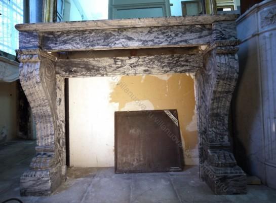 Камин антикварный мраморный (каминный портал) Villa Nuova B015604