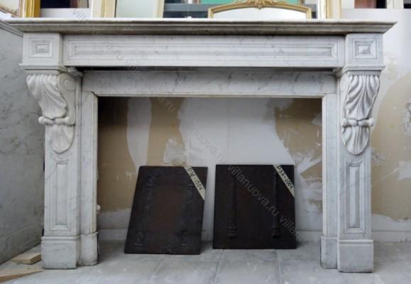 Камин антикварный мраморный (каминный портал) Villa Nuova B039071