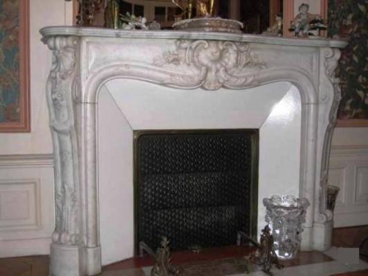Камин антикварный мраморный (каминный портал) Villa Nuova B038716