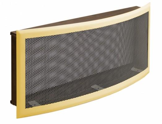 Решетка вентиляционная 50х20, горизонтальная радиусная, подрамник с фильтром DIXNEUF
