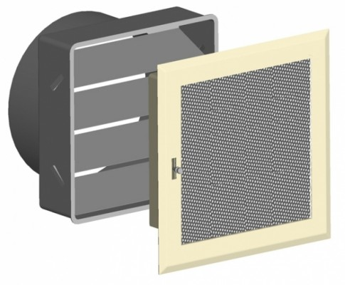 Решетка вентиляционная 16х16, жалюзи регулируемые DIXNEUF