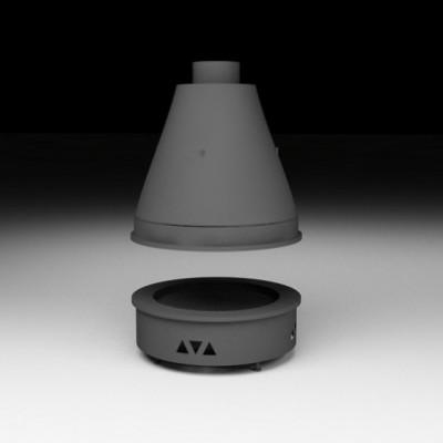 Центральная каминная топка Virtu серии VO-C