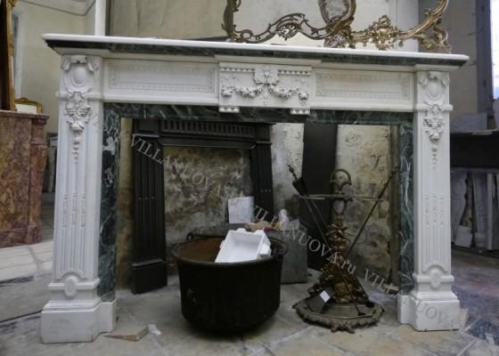 Камин антикварный мраморный (каминный портал) Villa Nuova B048767